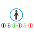 standing gentleman rounded icon vector image vector image