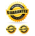 three gold labels vector image vector image