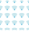 Unique Wi-fi seamless pattern vector image vector image
