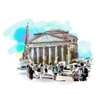 watercolor travel card from Rome Italy old vector image vector image