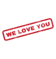 We Love You Rubber Stamp vector image vector image