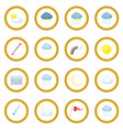 weather set icon circle vector image vector image