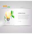 Website template design ecology background vector image vector image