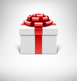 White gift box with red ribbon vector | Price: 1 Credit (USD $1)