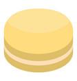 yellow macaroon icon isometric style vector image vector image
