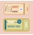 Vintage Retro cinema tickets concept vector image