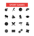 sport games thin line icons linear vector image