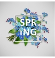 Spring background with blue flowers vector image