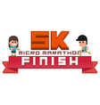 Micro Marathon 5K running finish vector image