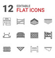 12 country icons vector image vector image