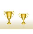 3d realistic cup golden trophy goblet vector image vector image