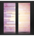 Abstract Pink Rectangle Shapes Banner vector image vector image
