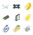aeroplane icons set isometric style vector image vector image