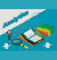 analytics concept isometric style vector image vector image
