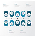antibiotic icons line style set with polyclinic vector image vector image