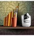 art shelf vector image vector image