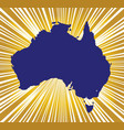australia golden silhouette vector image vector image