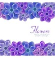 background with realistic flowers vector image