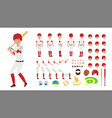 baseball player animated character vector image vector image