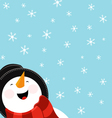 Big Snowman vector image vector image