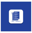 blue round button for code coding compile files vector image