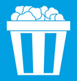 box of popcorn icon white vector image vector image