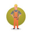 builder man icon engeneer occupation contractor vector image
