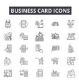 business card line icons for web and mobile design vector image