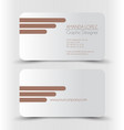 business card set template vector image vector image