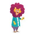 cartoon funny lion vector image