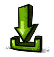 cartoon image of torrent icon arrow symbol vector image vector image