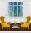 classic livingroom interior cartoon style vector image