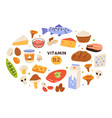 collection vitamin b2 sources food containing vector image