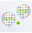 Colorful speech bubbles with text vector image vector image