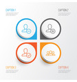 communication icons set collection of remove vector image vector image