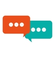conversation bubbles icon vector image vector image