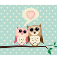 Couple Owl with Love vector image vector image