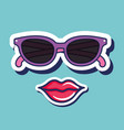 cute pop art icons vector image