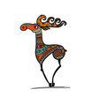 deer character sketch for your design vector image
