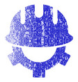 development helmet grunge textured icon vector image vector image