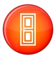 Door icon flat style vector image vector image