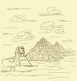 egypt pyramid vintage vector image