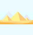 egypt pyramids background ancient sunlight vector image