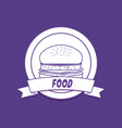 emblem of food design vector image vector image