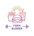 fast food restaurant and cafe logo fresh vector image vector image