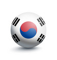 flag of south korea in the form of a ball vector image