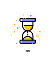 flat icon of hourglass for business time concept vector image vector image