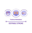 freelance marketplace concept icon vector image vector image