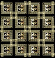geometric greek 3d seamless pattern ornamental vector image vector image