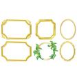 golden frames vector image vector image